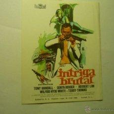 Folhetos de mão de filmes antigos de cinema: PROGRAMA INTRIGA BRUTAL -TONY RANDALL. Lote 45659742