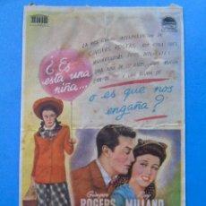 Cine: PROGRAMA DE MANO. CINE. EL MAYOR Y LA MENOR. CINE ECHEGARAY MÁLAGA. PUBLICIDAD. Lote 45678073