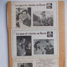Cine: LO QUE EL VIENTO SE LLEVO-TRES PROGRAMAS-MIRA LAS FOTOS. Lote 45679900