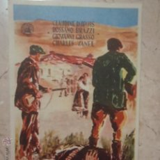 Cine: FOLLETO DE MANO LOS INEXORABLES.SP.. Lote 45709544