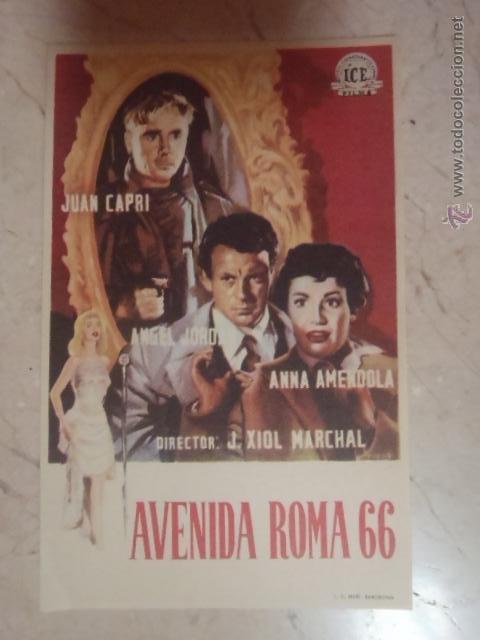 FOLLETO DE MANO AVENIDA ROMA 66.SP. (Cine - Folletos de Mano - Bélicas)