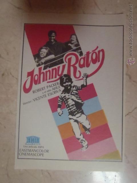 FOLLETO DE MANO JOHNNY RATON.SP. (Cine - Folletos de Mano - Bélicas)