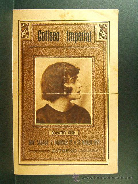 EL COFRE DE LA ESPERANZA-E.CLIFTON-DOROTHY GISH-CINE COLISEO IMPERIAL-GERONA-ESTRENO-RARISIMO-1921 (Cine - Folletos de Mano - Drama)