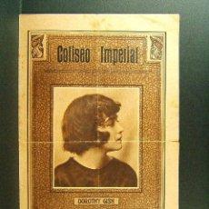 Cine: EL COFRE DE LA ESPERANZA-E.CLIFTON-DOROTHY GISH-CINE COLISEO IMPERIAL-GERONA-ESTRENO-RARISIMO-1921. Lote 45686145