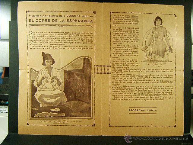 Cine: EL COFRE DE LA ESPERANZA-E.CLIFTON-DOROTHY GISH-CINE COLISEO IMPERIAL-GERONA-ESTRENO-RARISIMO-1921 - Foto 3 - 45686145
