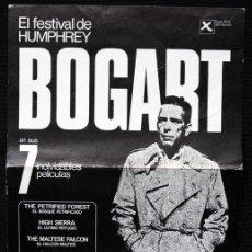 Cine: PROGRAMA DE MANO - FESTIVAL BOGART - FOLLETO - 1976. Lote 45712152