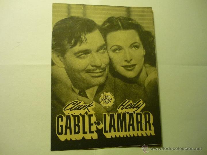 PROGRAMA DOBLE CAMARADA X .-CLARK GABLE.-TEATRO FORTUNY REUS (Cine - Folletos de Mano - Bélicas)