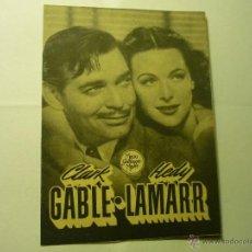 Cine: PROGRAMA DOBLE CAMARADA X .-CLARK GABLE.-TEATRO FORTUNY REUS. Lote 45742268