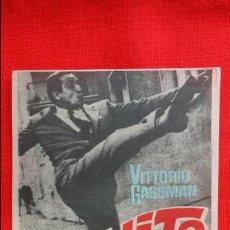 Cine: EL EXITO, IMPECABLE SENCILLO 1964, VITTORIO GASSMAN ANOUK AIMEE, CON PUBLICIDAD KURSAAL REUS. Lote 45745119