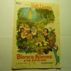 Cine: PROGRAMA BLANCANIEVES Y LOS 7 ENANITOS.-DISNEY--CINE KURSAAL- MONTBLANCH??. Lote 45746944