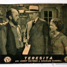 Cine: TERESITA JANET GAYNOR CHARLES FARRELL * RIALTO * FOLLETO DE MANO *. Lote 45825927