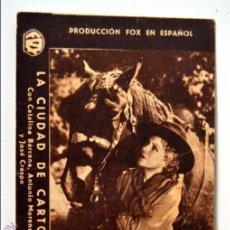 Cine: LA CIUDAD DE CARTON * FOLLETO DE MANO * PROGRAMA DE CINE * RIALTO * CATALINA BARCENA. Lote 45826048