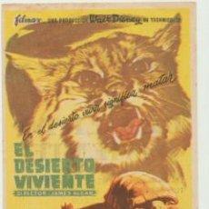 Cine: EL DESIERTO VIVIENTE. SENCILLO DE FILMAX. CINE MARAVILLA - JEREZ.. Lote 45844050