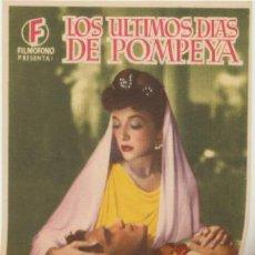 Cine: LOS ÚLTIMOS DÍAS DE POMPEYA. SENCILLO DE FILMÓFONO.. Lote 45888947