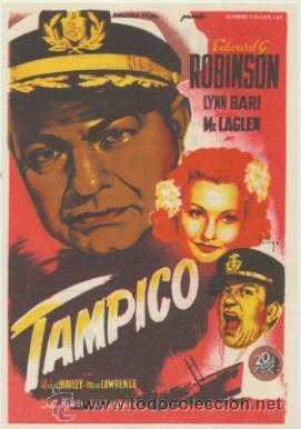 TAMPICO. SOLIGÓ. SENCILLO DE 20TH CENTURY FOX. CINE MARI - LEÓN 1946. ¡IMPECABLE! (Cine - Folletos de Mano - Bélicas)