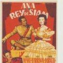 Cine: ANA Y EL REY DE SIAM. SOLIGÓ. SENCILLO DE 20TH CENTURY FOX.. Lote 118813855