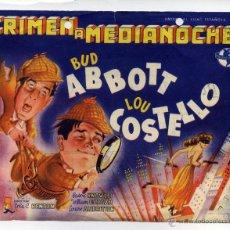 Cine: CRIMEN A MEDIANOCHE, CON BUD ABBOTT Y LOU COSTELLO.. Lote 45955065