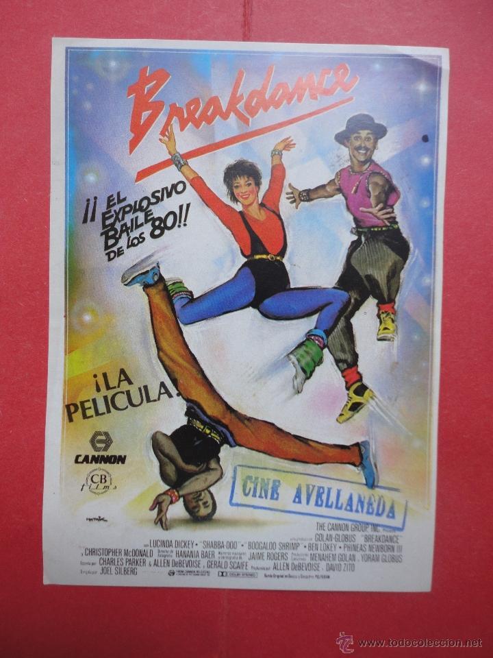 BREAKDANCE, SELLO CINE AVELLANEDA, LAS PALMAS GC (Cine - Folletos de Mano - Musicales)