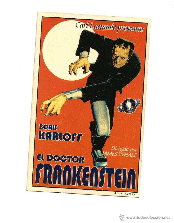 EL DOCTOR FRANKENSTEIN, BORIS KARLOFF (Cine - Folletos de Mano - Terror)