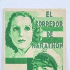 Cine: PROGRAMA DE CINE DOBLE. DEPORTES - EL CORREDOR DE MARATHON - PUBLICIDAD AL DORSO - 14 X 10 CM. Lote 46088863