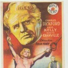 Cine: ACUSADO DE ALTA TRAICIÓN. SENCILLO DE ROSA FILMS. CINE UNIVERSAL 1953.. Lote 46103250