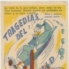 Cine: TRAGEDIAS DEL PATO DONALD. SENCILLO DE ARAJOL.. Lote 46147150