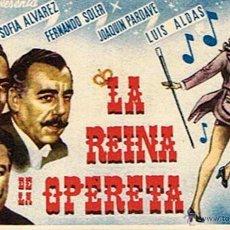 Cinema - FOLLETO DE CINE ¨LA REINA DE LA OPERETA¨ - 46219384