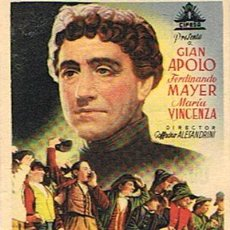 Cine: FOLLETO DE CINE ¨UN HOMBRE DE LEYENDA ( DON BOSCO) ¨ 1947. Lote 46219729