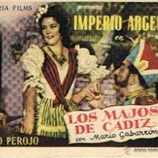 Cine: FOLLETO DE CINE ¨LOS MAJOS DE CADIZ¨. Lote 46220031