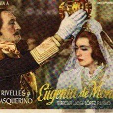 Cine: FOLLETO DE CINE ¨EUGENIA DE MONTIJO¨. Lote 46220960