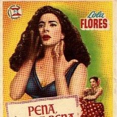 Cine: FOLLETO DE CINE ¨PENA,PENITA PENA¨. Lote 46221572