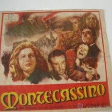 Cine: ANTIGUO FOLLETO MANO PROGRAMA CINE MONTECASSINO PROYECTADA EN ELCHE, AÑOS 40/50. Lote 46237493