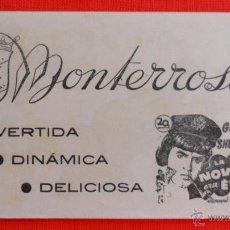 Cine: LA NOVIA ERA EL, PROGRAMA LOCAL, EXCTELENTE ESTADO, CARY GRANT ANN SHERIDAN, CINE MONTERROSA. Lote 46298129