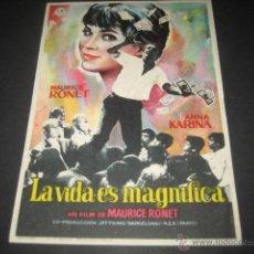Cine: LA VIDA ES MAGNIFICA. Lote 46319719