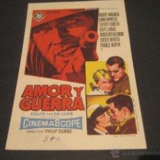 Cine: AMOR Y GUERRA. Lote 46320015