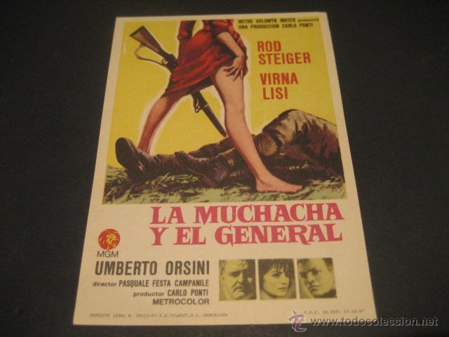 LA MUCHACHA Y EL GENERAL (Cine - Folletos de Mano - Aventura)