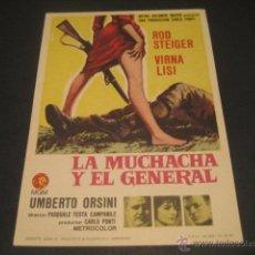 Cine: LA MUCHACHA Y EL GENERAL. Lote 46320063