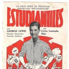 Cine: PELICULAS ESTUDIANTILES PROGRAMA DOBLE UNIVERSAL GEORGE LEWIS HAYDEN STEVENSON DOROTHY GULLIVER. Lote 46325970