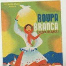 Cine: ROUPA BRANCA. DOBLE DE REY SORIA FILMS. SALÓN NACIONAL - GRANADA. ¡IMPECABLE!. Lote 46335120