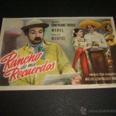 Cine: RANCHO DE MIS RECUERDOS PROGRAMA DE MANO. Lote 46353616