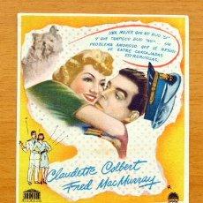 Cine: BODAS BLANCAS - CLAUDETTE COLBERT, FRED MAC MURRAY - CON PUBLICIDAD. Lote 46448837