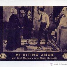 Cine: MI ÚLTIMO AMOR, CON JOSÉ MOJICA.. Lote 46470656