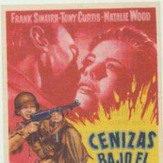 Cine: CENIZAS BAJO EL SOL. SENCILLO DE BENGALA. CINE SPRING 1960.. Lote 46472190