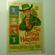 Cine: PROGRAMA SU ULTIMA HAZAÑA-WILLARD PARKER. Lote 46492476