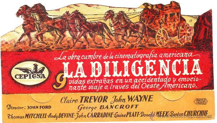 LA DILIGENCIA 1944. CINE DE BADAJOZ (Cine - Folletos de Mano - Westerns)