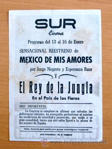 Cine: Mexico de mis amores - Jorge Negrete, Esperanza Baur - Con publicidad - Foto 2 - 46518692
