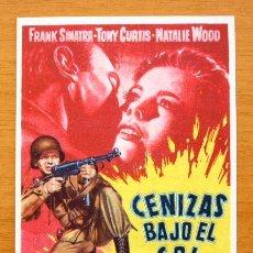 Cine: CENIZAS BAJO DEL SOL - FRANK SINATRA, TONY CURTIS, NATALIE WOOD - CON PUBLICIDAD. Lote 46527181