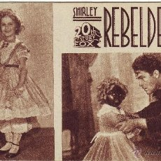Cine: REBELDE DE LA NIÑA SHIRLEY TEMPLE. Lote 46528003