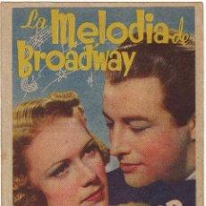 Cine: LA MELODÍA DE BROADWAY CINE DE BADAJOZ. Lote 46529271