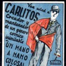 Cine: PROGRAMA DE CINE CARLITOS. UN MANO A MANO COLOSAL, JAIMITO CARLITOS. C/P.. Lote 46622437